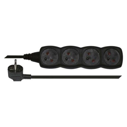 Prodlužovací kabel EMOS 5m/4zásuvky černá PC0415 1902240500