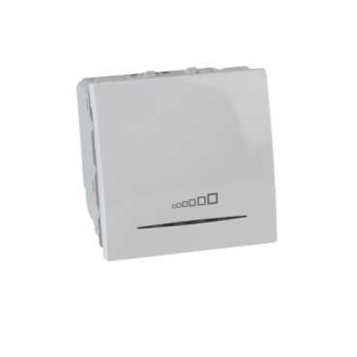 Schneider Unica stmívač tlačítkový 20-350W polar MGU3.515.18