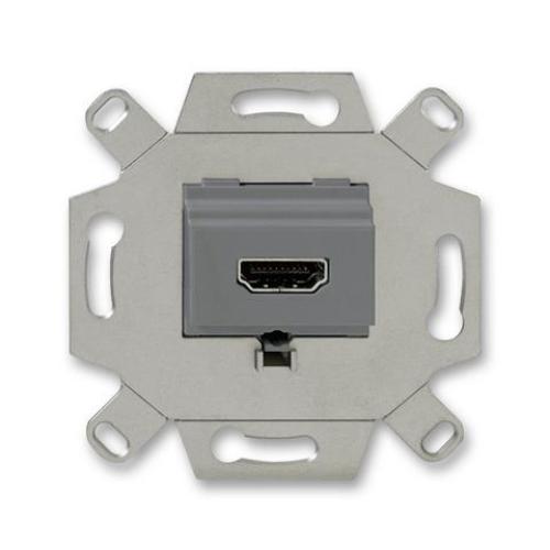 ABB zásuvka komunikační HDMI šedá 0230-0-0432 (0261/33-500) 2CKA000230A0432