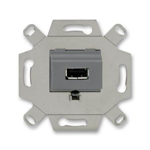 ABB zásuvka USB šedá 0230-0-0420 (0261/13-500) 2CKA000230A0420 komunikační