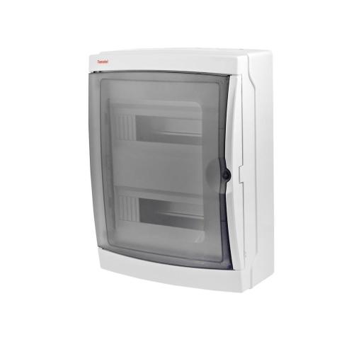 Rozvodnice na omítku Famatel 3926-T průhledné dveře 26M IP65 39261