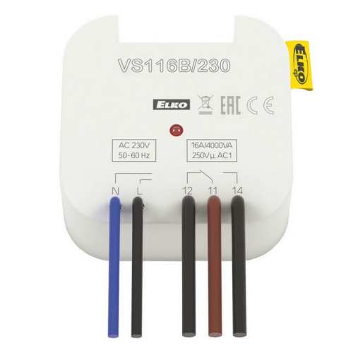 Pomocné relé Elko EP VS116B/230 1x16A přepínací AC 230V do krabice