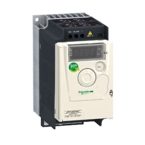Frekvenční měnič Schneider Altivar 12 0,75kW 4,2A 1-fáze do 240V s chladičem ATV12H075M2