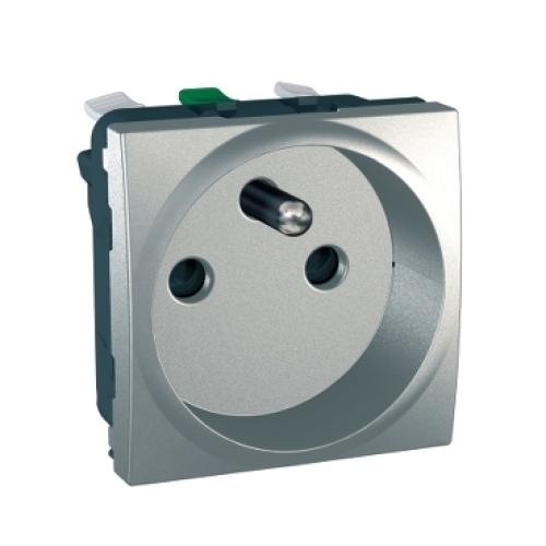 Schneider Unica zásuvka bezšroubová aluminium MGU3.059.30