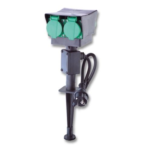 Venkovní zásuvkový sloupek Ecolite UFON 4 XHWS-F03 4x zásuvka IP44