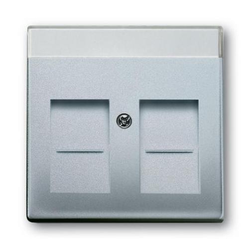 ABB Future Linear kryt datové zásuvky hliníková stříbrná 1710-0-3676 (1800-83) 2CKA001710A3676