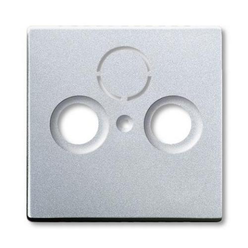 ABB Future Linear kryt zásuvky televizní hliníková stříbrná 1724-0-4262 (1743-83) 2CKA001724A4262