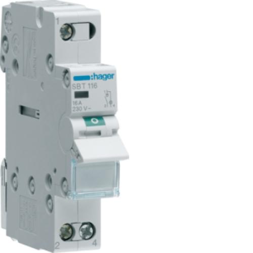 Instalační vypínač hager SBT116 1P 16A s kontrolkou