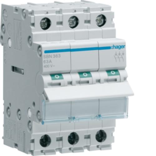Instalační vypínač hager SBN363 3P 63A