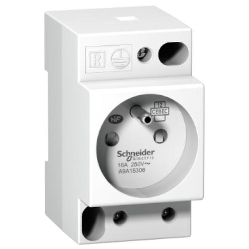 Zásuvka na DIN lištu Schneider Acti9 iPC A9A15306 230V/16A
