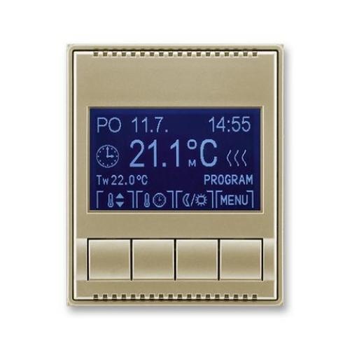 ABB Time, Time Arbo termostat pokojový programovatelný šampaňská 3292E-A10301 33