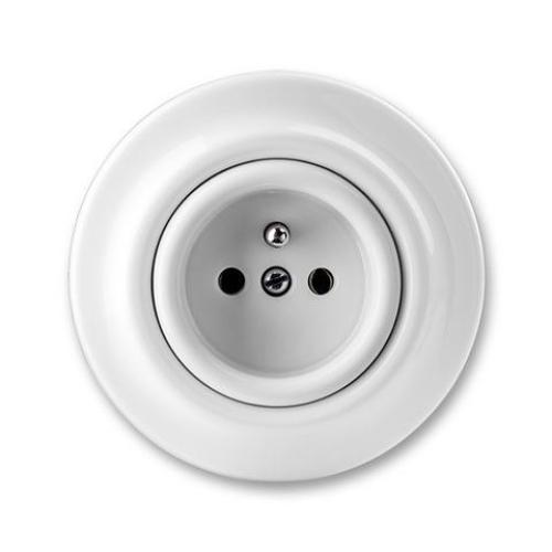 ABB Decento zásuvka bílá-porcelán 5519K-C02347