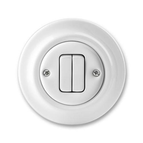 ABB Decento vypínač č.5 bílá 3559K-C05345 porcelán