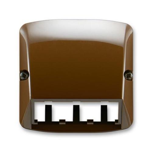 ABB Tango kryt datové zásuvky hnědá 5014A-A00410 H pro Panduit Mini-Com