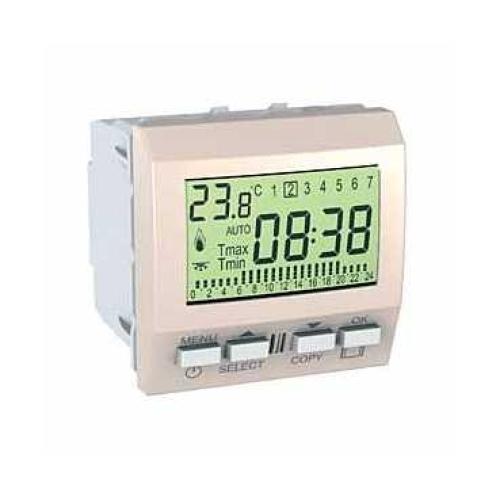 Schneider Unica Top termostat týdenní pro podlahové vytápění MGU3.505.25P marfil