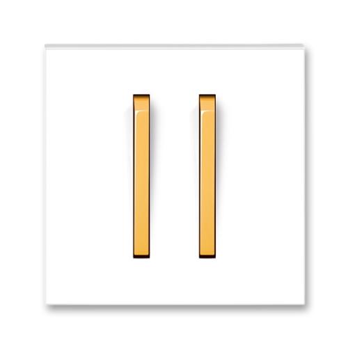 Levně ABB Neo kryt vypínače dvojitý bílá/ledová oranžová 3559M-A00652 43
