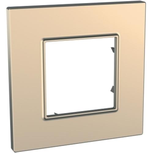 Schneider Unica Quadro rámeček metallized/copper MGU6.702.56