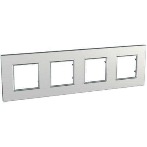 Schneider Unica Quadro čtyřrámeček metallized/silver MGU6.708.55