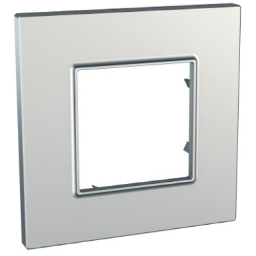 Schneider Unica Quadro rámeček metallized/silver MGU6.702.55