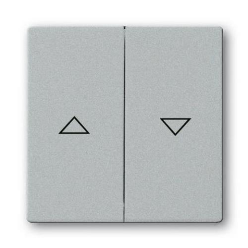 ABB Future Linear kryt spínače žaluzií hliníková stříbrná 1751-0-2944 (1785 JA-83) 2CKA001751A2944