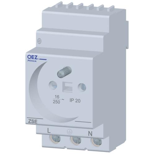 Zásuvka na DIN lištu OEZ ZSE-06 CSN 230V/16A průchozí