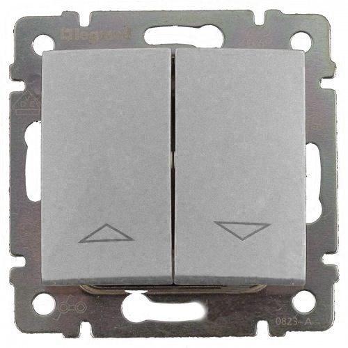 Legrand Valena stříbrná metalíza žaluziový spínač 770104