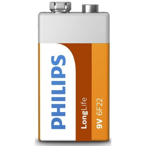 Baterie 9V Philips LongLife 6F22 L1F/10