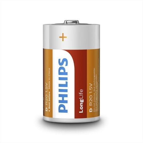 Baterie D Philips LongLife R20 L2B/10