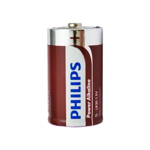 Baterie D Philips Power Alkaline LR20 P2B/10 alkalické