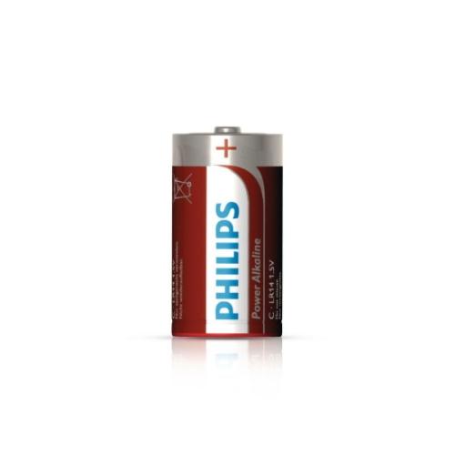 Baterie C Philips Power Alkaline LR14 P2B/10 alkalické