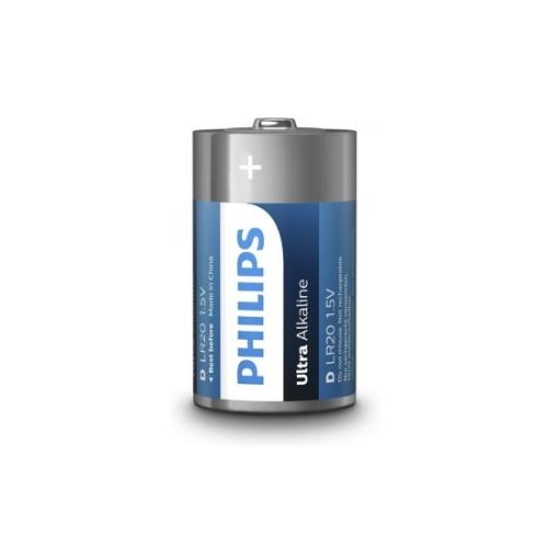 Baterie D Philips Ultra Alkaline LR20 E2B/10 alkalické