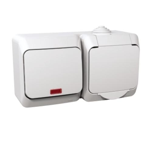 Schneider Cedar Plus zásuvka s vypínačem č.1 orientační doutnavka bílá WDE000581