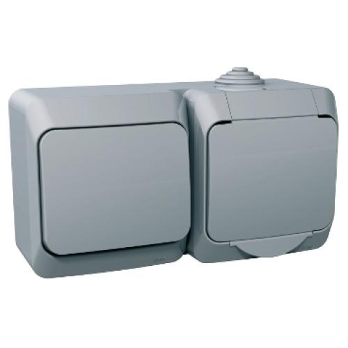 Schneider Cedar Plus zásuvka s vypínačem č.6 šedá WDE000684