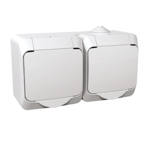 Schneider Cedar Plus dvojzásuvka bílá WDE000522