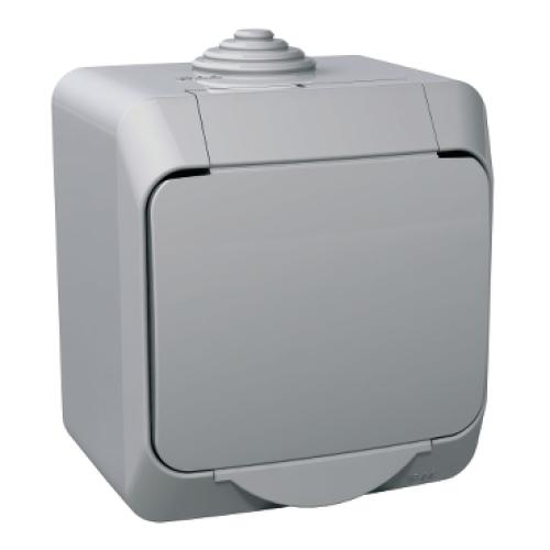 Schneider Cedar Plus zásuvka šedá WDE000640