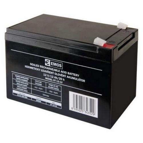 Olověný akumulátor EMOS B9656 12V 12Ah