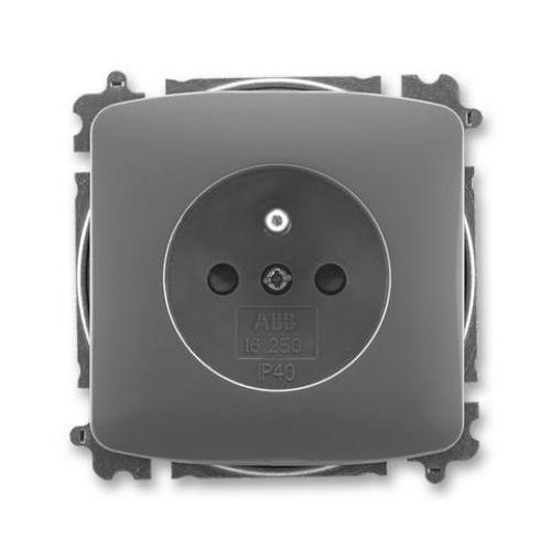 ABB Tango zásuvka kouřová šedá s clonkami 5519A-A02357 S2