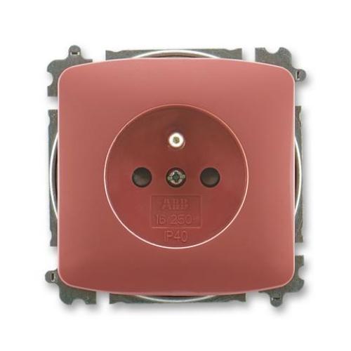 ABB Tango zásuvka vřesová červená s clonkami 5519A-A02357 R2