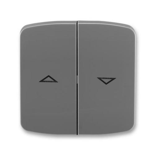 ABB Tango kryt vypínače žaluziového dělený s potiskem kouřová šedá 3558A-A662 S2
