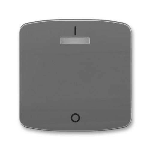 ABB Tango kryt vypínače s potiskem s čirým průzorem kouřová šedá 3558A-A00933 S2