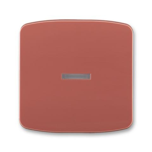 ABB Tango kryt vypínače s průzorem vřesová červená 3558A-A653 R2