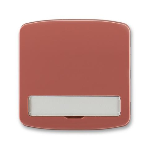 ABB Tango kryt vypínače s popisovým polem vřesová červená 3558A-A00620 R2