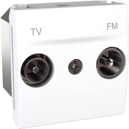 Schneider Unica zásuvka TV+R koncová polar MGU3.451.18