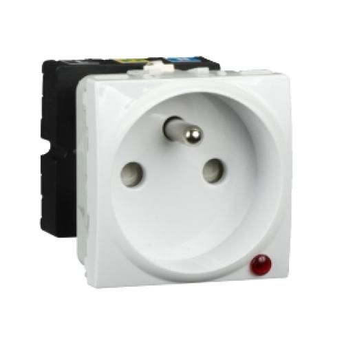 Schneider Unica zásuvka s přepěťovou ochranou polar MGU3.039.18P