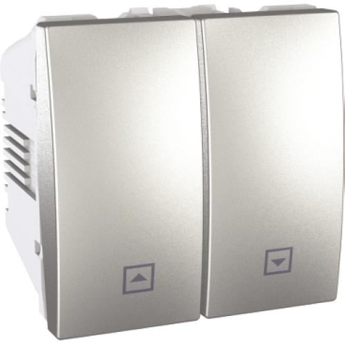 Schneider Unica Top/Class tlačítko dvojité ovládání žaluzií č.1/0+1/0 2mod.al MGU3.207.30
