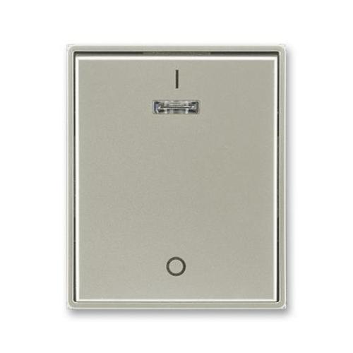 ABB Element,Time kryt vypínače s potiskem a průzorem starostříbrná 3558E-A00933 32