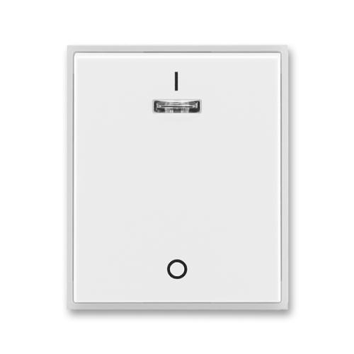 ABB Time Element kryt vypínače s potiskem a průzorem bílá/ledová bílá 3558E-A00933 01