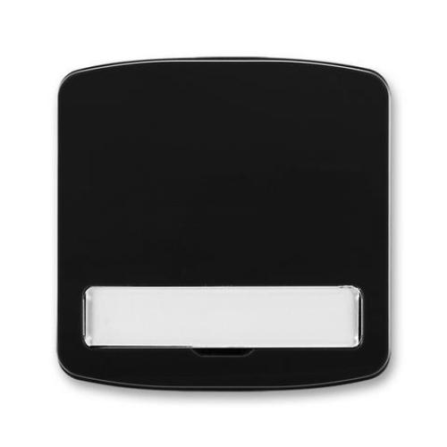 ABB Tango kryt vypínače s popisovým polem černá 3558A-A00620 N