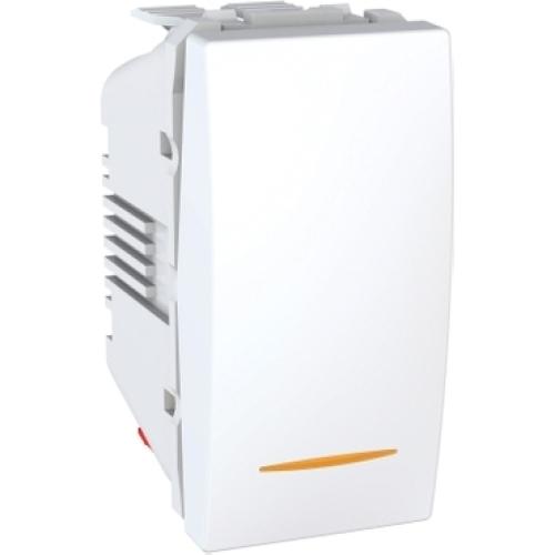 Schneider Unica vypínač č.1 se signalizační doutnavkou polar MGU3.101.18S