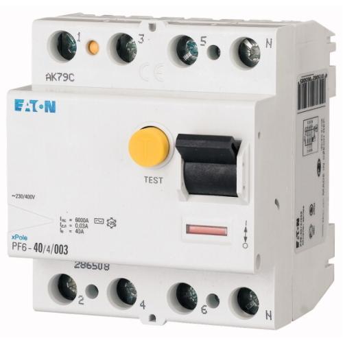 Proudový chránič EATON PF6-40/4/003 40A 30mA AC 286508